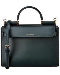 Dolce & Gabbana Sicily 58 Large Leather Tote - Black