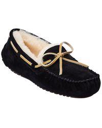 Smith's Suede Moccasin Slipper - Black