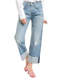 Rag & Bone Maya High Waist Ankle Straight Leg Jeans (rowdy) - Blue