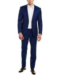 BOSS by Hugo Boss 2pc Huge6/genius5 Wool Suit - Blue