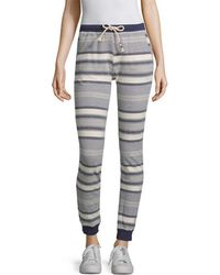 Sol Angeles Stripe Jogging Pant - Gray