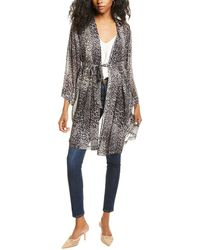 Go> By Go Silk Go By Go>silk Haute Hippie Silk Kimono - Black