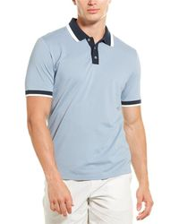 Theory Ringer Rib Polo Shirt - Blue