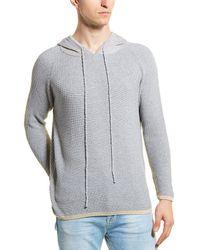 Vestige Contrast Hood Jacquard Pullover - Gray