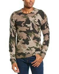 Zadig & Voltaire Kennedy Cp Ao Camo Cashmere Crewneck Sweater - Natural