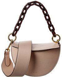 Yuzefi Doris Half Moon Leather Shoulder Bag - Multicolor