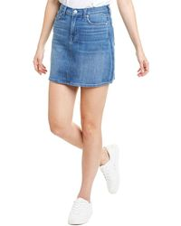 7 For All Mankind - 7 For All Mankind Mini Skirt - Lyst