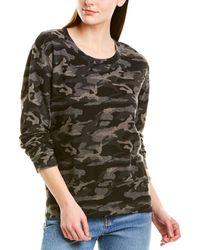 Monrow Camo Sweatshirt - Grey