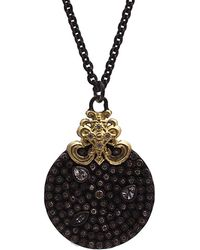 Armenta Old World 18k & Silver 2.48 Ct. Tw. Diamond & Sapphire Necklace - Metallic