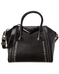 5d759b6ee36 Givenchy Antigona Small 4g Quilted Leather Satchel Bag in Black - Lyst