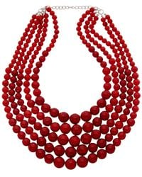 Kenneth Jay Lane 22k Plated Glass Bead Necklace - Multicolour