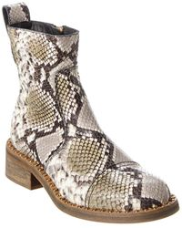 Zadig & Voltaire Empress Wild Snake-embossed Leather Boot - White
