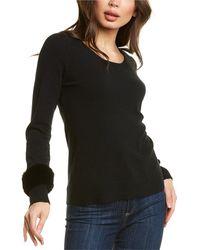 Forte Scoop Cashmere Sweater - Black