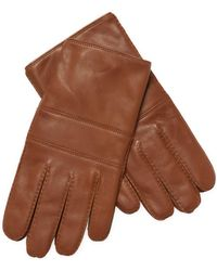 Theory Nappa Leather Gloves - Brown