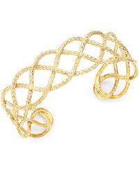 John Hardy - 18k Yellow Gold Cuff Bracelet - Lyst