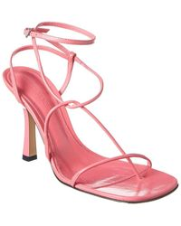 Bottega Veneta Barely There Leather Sandal - Pink