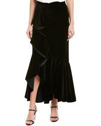Alice + Olivia Arianna Trumpet Skirt - Black