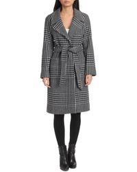 Badgley Mischka - Belted Wool-blend Wrap Coat - Lyst