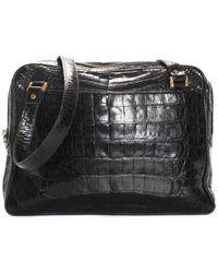 Chanel Black Alligator Cc Charm Shoulder Bag