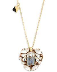 Nocturne Crystal Yuna Pendant Necklace - Metallic