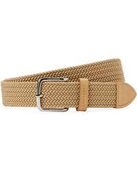 J.Lindeberg - Chap Elastic Braid Belt - Lyst
