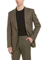 Tom Ford 2pc Wool Suit With Flat Pant - Green