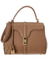 Céline Small 16 Leather Satchel - Brown
