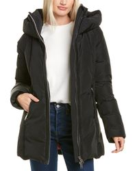 Nicole Benisti Series By Goldenes Leather-trim Down Coat - Black