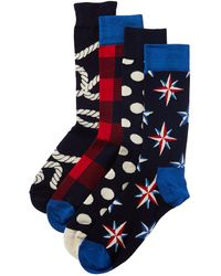 Happy Socks 4pk Socks Gift Box - Blue
