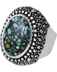King Baby Studio - Silver Turquoise Ring - Lyst