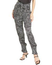 The Kooples Safari Chic Shiny Pant - Black
