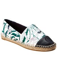 Tory Burch - Colorblocked Leather Espadrille - Lyst