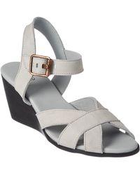Arche Egowa Nubuck Wedge Sandal - White