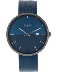 Simplify Unisex The 6400 Watch - Blue