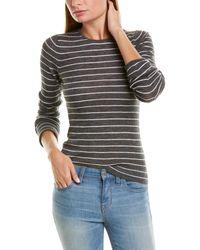 Vince Ribbed Jumper Wool Top - Grey