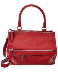 Givenchy Pandora Medium Pepe Leather Shoulder Bag - Red