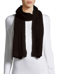 Portolano   Cable-knit Solid Scarf   Lyst