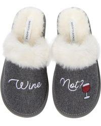 Saks Fifth Avenue Wine Not Slippers - Grey