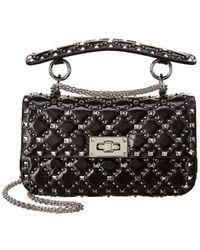 Valentino Spike. It Small Micro-stud Shoulder Bag - Black
