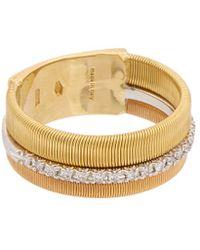 Marco Bicego Masai 18k Tri-tone .13 Ct. Tw. Diamond Ring - Metallic