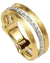 Marco Bicego Jaipur Link 18k Two-tone 0.12 Ct. Tw. Diamond Ring - Metallic