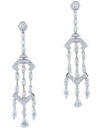 Kwiat - Pagoda 18k 2.26 Ct. Tw. Diamond Drop Earrings - Lyst