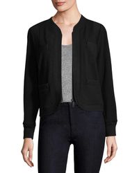 Tracy Reese - Ribbed Trim Cardigan - Lyst