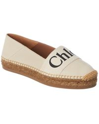 Chloé Woody Leather Espadrille - Natural