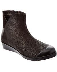 Naot Loyal Leather Ankle Boot - Black