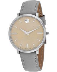 Movado Ultra Slim Watch - Metallic