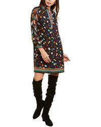Alice + Olivia Lalita Silk-blend Shirtdress - Black