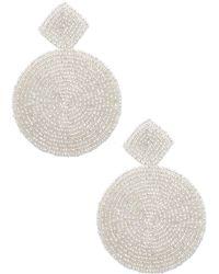 Kenneth Jay Lane - Beaded Geometric Drop Earrings - Lyst