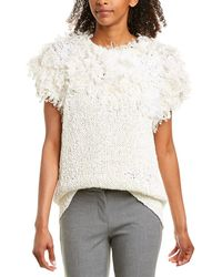 Brunello Cucinelli Fringe Wool-blend Sweater - Multicolour