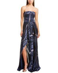 Halston Burnout Gown - Blue